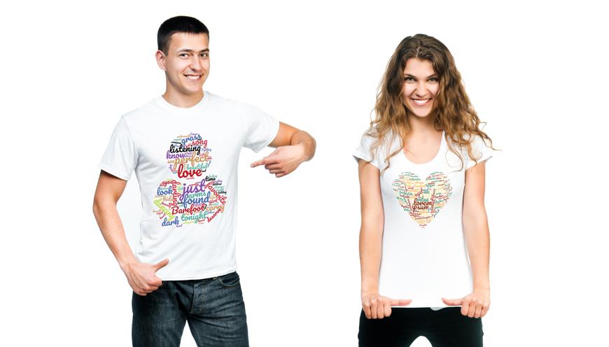 Wortwolke auf T-Shirts drucken